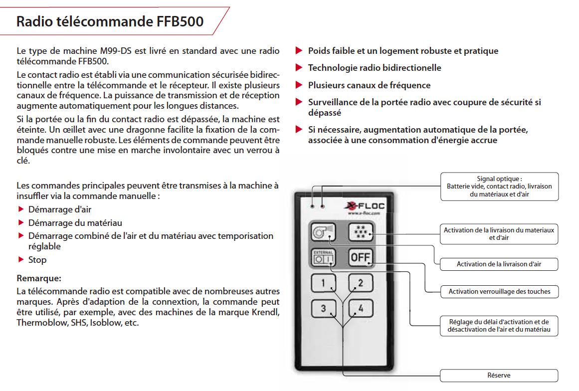 minifant télécommande ffb5000